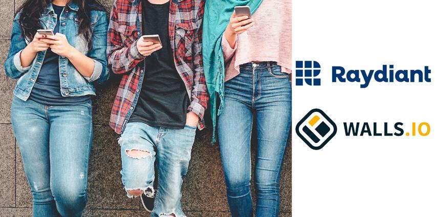 Raydiant, Walls.io Partner on Physical Social Media Walls